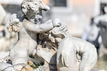 Roma, piazza Navona, fontana del Nettuno (part.)