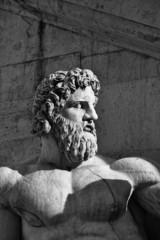 Italy, Rome, Campidoglio Square, roman statue