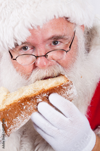 Santa Claus eating Pandoro