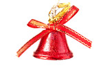 red bell on white background
