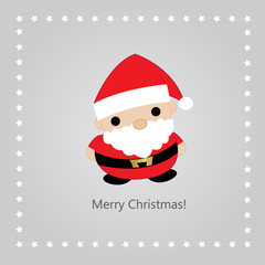 Christmas greeting card with a Santa