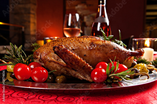 canvas print picture holiday turkey