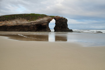 Beach of the Cathedrals in Ribadeo, Spain
