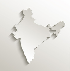 India map card paper 3D natural