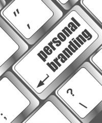 personal branding on computer keyboard key button
