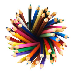 Round twirl of pencils