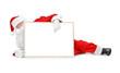 Santa and empty white board