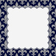 Blue and Gray Fleur De Lis Textured Fabric Background