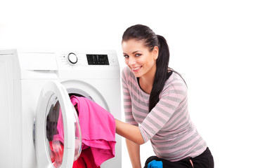 woman launderers clothes