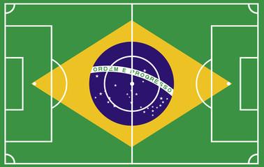 Fußballfeld Brasilien