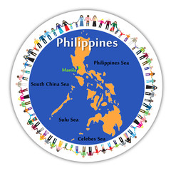 Symbol of charitable action for Philippines