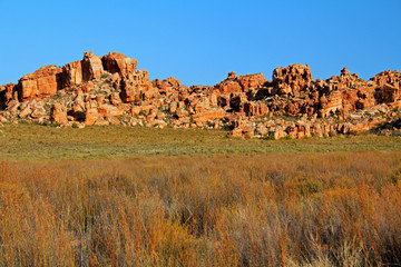 The Stadsaal Caves landscape in the Cederberg, South Africa