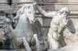 Roma, fontana di Trevi (part.)