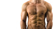 Close up on perfect abs. Strong bodybuilder with six pack - 58179288