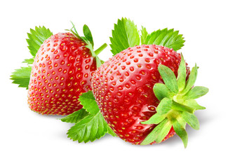Strawberry. Composition isolated on white