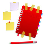 Personal organizer with pencil
