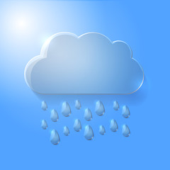 Illustration of glass cloud