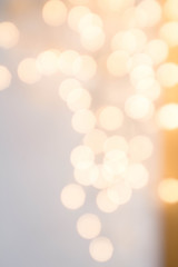 Elegant Abstract Christmas background with blur golden lights. B
