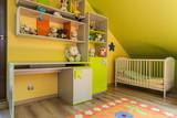 Urban apartment - green and yellow interior
