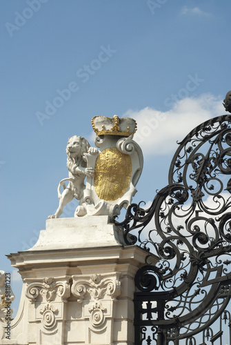 Lion on gates