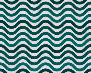 Teal and Gray Wavy  Textured Fabric Background