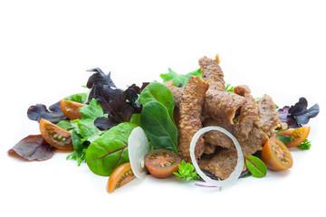 Ensalada con carne de kebab