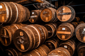 Cognac barrels more than 100 years old