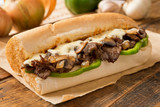 Fototapety Steak and Cheese Sub