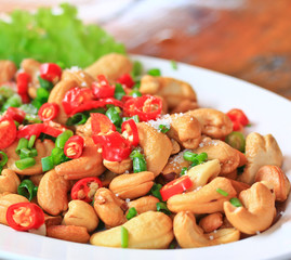 Cashew nut salad