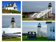 Collage of Marshall Point Lighthouse