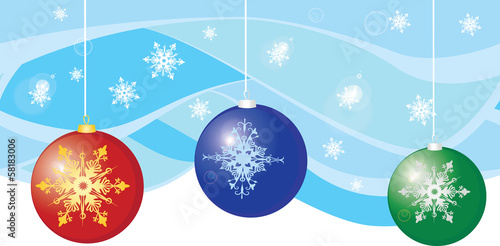 Seamless background of snow, snowflake, new year tree colorful b