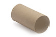 cardboard toilet paper empty isolated