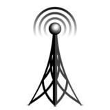 Vector antenna black icon
