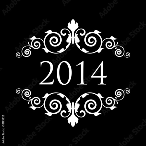 Vector 2014 vintage background