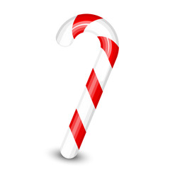 Vector illustration of candy cane