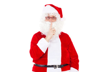Be quiet! Santa Claus is coming