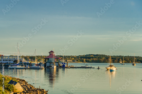 Burlington Harbour at Sunset, Vermont
