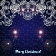 Christmas background with large snowflakes top.