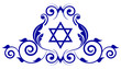 Vector floral icon with star of David