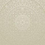 Vector oriental gray background with ornament