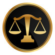 Vector justice scales icon