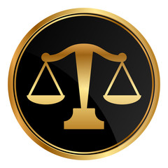 Vector justice scales icon