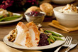 Traditional thanksgiving turkey dinner - 58186058