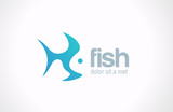 Logo Fish abstract vector Creative design concept.