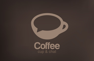 Logo Coffee cup chat vector. Creative design cafe idea