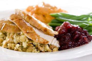 Traditional thanksgiving turkey dinner