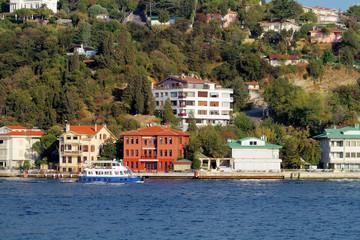 Waterside residences along Bosbhorus Sea. Kucuksu, Istanbul