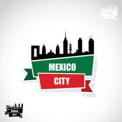 Mexico City ribbon banner