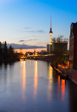 Belin, river Spree in the evening