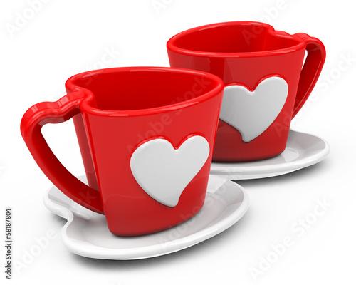 Die Tassen der Liebe